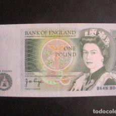 Billetes extranjeros: BILLETE GRAN BRETAÑA ONE POUND 1 LIBRA ESTERLINA NEWTON AÑOS 1978 - 1988 NO USADO PERFECTO ESTADO. Lote 61643308