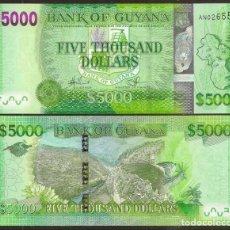 Billetes extranjeros: GUYANA. 5000 DOLARES (2013). S/C. PICK 40. MAXIMO VALOR DEL PAIS.. Lote 139536505