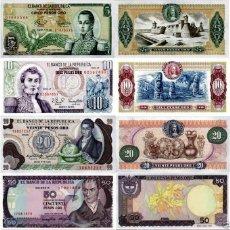 Billetes extranjeros: LOT SET 6 PCS COLOMBIA 5-10-20-50-100-200 PESOS UNC. Lote 127750192