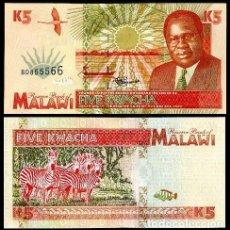 Billetes extranjeros: MALAWI - 5 KWACHA - 1ST. JUNE 1995 - S/C. Lote 91943554