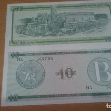 Billetes extranjeros: BILLETE DE CUBA SERIE B 10PESO CALIDAD SC AÑO 1985 NICK FX8. Lote 63739803