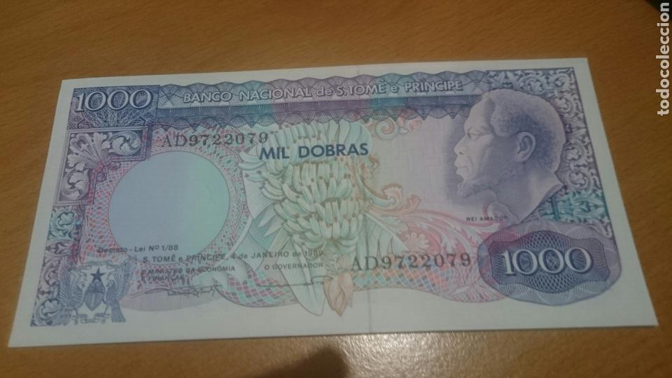 BILLETE DE SAINT THOMAS AND PRINCE 1000 DOBRAS AÑO 1989 CALIDAD SC NICK 62 (Numismática - Notafilia - Billetes Internacionales)
