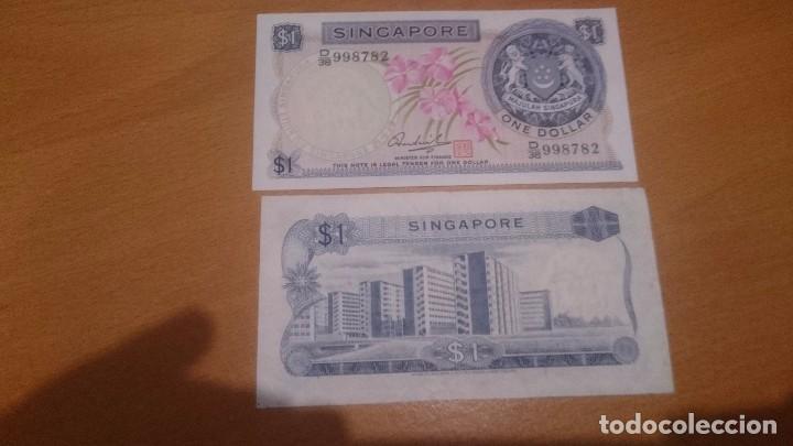 BILLETE DE SINGAPUR 1 DOLLAR CALIDAD SC NICK 1D (Numismática - Notafilia - Billetes Internacionales)