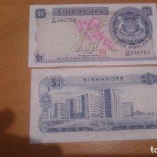 Billetes extranjeros: BILLETE DE SINGAPUR 1 DOLLAR CALIDAD SC NICK 1D. Lote 63896007