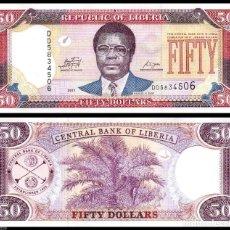 Billetes extranjeros: LIBERIA - 50 DOLLARS - AÑO 2011 - S/C. Lote 91784297