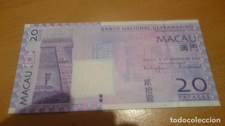 BILLETE DE MACAO 20 PATACAS NICK 81 CALIDAD SC AÑO 2005 (Numismática - Notafilia - Billetes Internacionales)