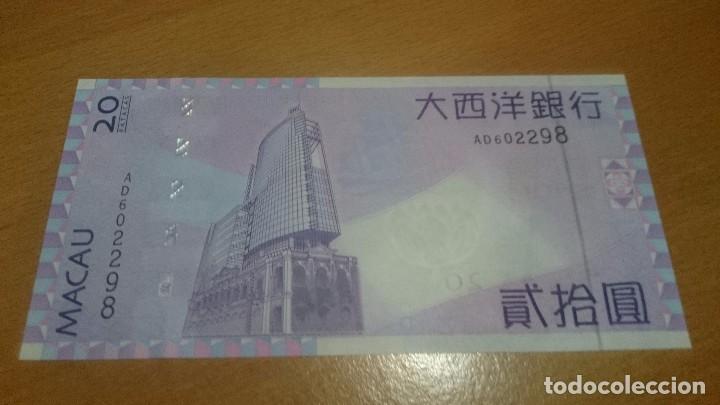 Billetes extranjeros: billete de macao 20 patacas nick 81 calidad sc año 2005 - Foto 2 - 63961627