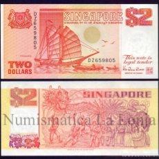 Billetes extranjeros: SINGAPUR SINGAPORE 2 DOLLARS TONGKANG 1990 PICK 27 SC UNC. Lote 128211463