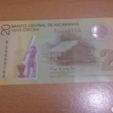 Billetes extranjeros: BILLETE DE NICARAGUA DE 20 CÓRDOBA AÑO 2007 CALIDAD SC POLYMERO . Lote 64316513