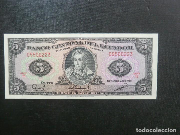 BILLETE - PLANCHA - ECUADOR (Numismática - Notafilia - Billetes Extranjeros)