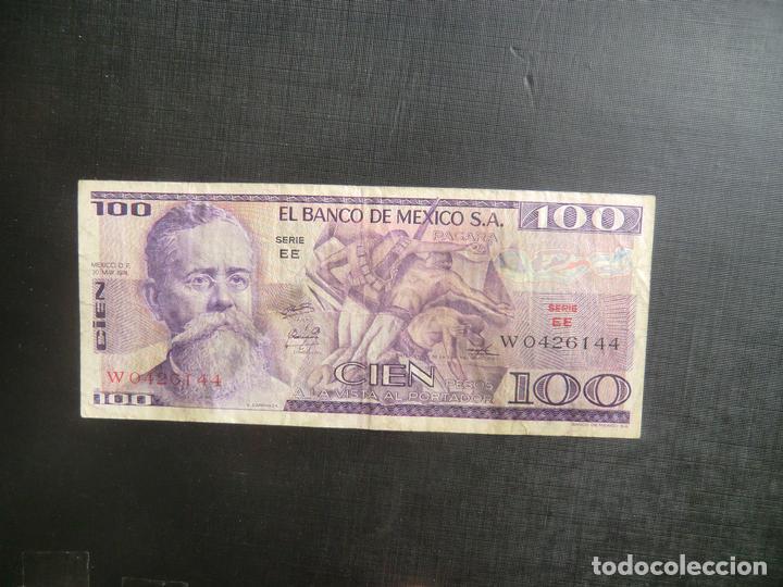 Billetes extranjeros: 100 PESOS - MEXICO - RARO - Foto 2 - 64516767