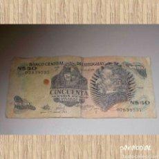 Billetes extranjeros: CINCUENTA NUEVOS PESOS, BANCO CENTRAL DE URUGUAY. Lote 64730343