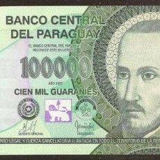 Billetes extranjeros: PARAGUAY. 100000 GUARANIES 2007. S/C. PICK 233A.. Lote 64960817