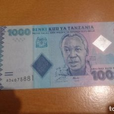 Billetes extranjeros: BILLETE TANZANIA 1000 SHILLINGI CALIDAD SC. Lote 65452178