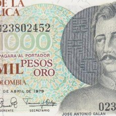 Billetes extranjeros: BILLETES - COLOMBIA - 1000 PESOS 1-4-79 Nº 022034374 - PICK-421. Lote 128320307