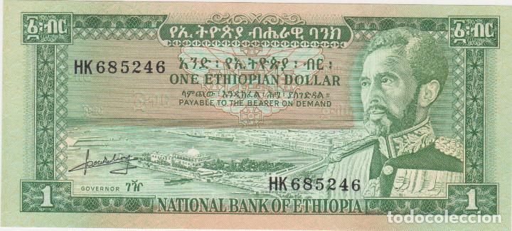 BILLETES - ETHIOPIA - 1 DOLLAR (1966) - SERIE HK - PICK-25 (SC) (Numismática - Notafilia - Billetes Extranjeros)