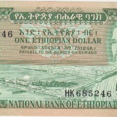 Billetes extranjeros: BILLETES - ETHIOPIA - 1 DOLLAR (1966) - SERIE HK - PICK-25 (SC). Lote 66158162