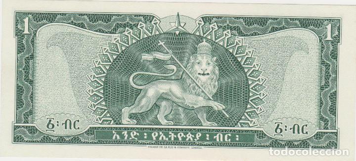 Billetes extranjeros: BILLETES - ETHIOPIA - 1 DOLLAR (1966) - SERIE HK - PICK-25 (SC) - Foto 2 - 66158162