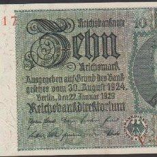 Billetes extranjeros: BILLETES - GERMANY-ALEMANIA - 10 REICHSMARK 1929 - SERIE V - PICK-180A (SC-). Lote 66295166