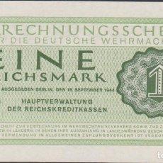 Notas Internacionais: BILLETES - GERMANY-ALEMANIA - 1 REICHSMARK 1944 - PICK-38 (SC). Lote 236852060