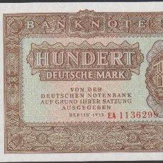 Billetes extranjeros: BILLETES - GERMANY-ALEMANIA - 100 DEUTSCHE MARK 1955 - SERIE EA 1136285 - PICK-21 (SC). Lote 196304317