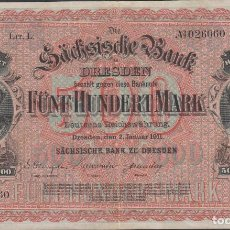 Billetes extranjeros: BILLETES - GERMANY-ALEMANIA - 500 MARK 1911 - SERIE I - PICK-S953B (MBC). Lote 66308642