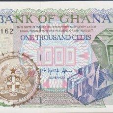 Billetes extranjeros: BILLETES - GHANA - 1000 CEDIS 1996 - SERIE AB 4429157 - PICK-32A (SC). Lote 222227541