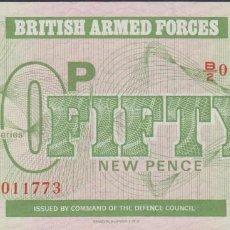 Billetes extranjeros: BILLETES - GRAN BRETAÑA - FUERZAS ARMADAS 50 NEW PENCE - SERIE B/2-011726 - SC. Lote 294455233