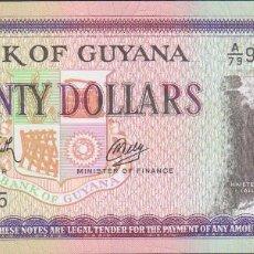 Billetes extranjeros: BILLETES GUYANA - 20 DOLLARS (1966/89) SERIE A/79-903733 - PICK-27 (SC). Lote 175402260