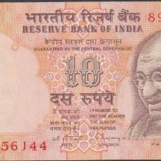 Billetes extranjeros: BILLETES INDIA - 10 RUPIAS ND (1996) - SERIE 89C - PICK-89A. Lote 66528338