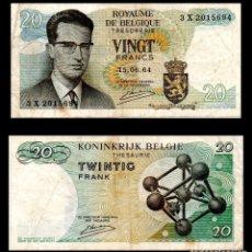 Billetes extranjeros: BELGICA 20 FRANCOS 1964 PIK 138 MBC-. Lote 66880766