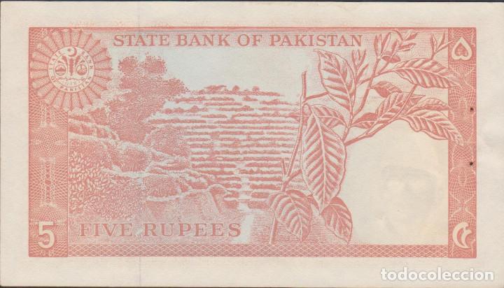 Billetes extranjeros: BILLETES - PAKISTAN - 5 RUPIAS (1972-78) SERIE EP 949989 - PICK-20A (SC) - Foto 2 - 168799358