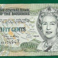 Billetes extranjeros: BAHAMAS - 1/2 DOLAR 2001 P. 68 SC UNC. Lote 67182749