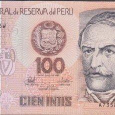 Billetes extranjeros: BILLETES - PERU - 100 INTIS 1987 - SERIE A7358747W - PICK-133 (SC). Lote 147108393