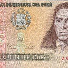 Billetes extranjeros: BILLETES - PERU - 500 INTIS 1987 - SERIE A 0927283 Q - PICK-134B (SC). Lote 147108146