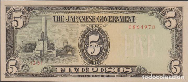 BILLETES - PHILIPPINES-FILIPINAS 5 PESOS (1943) OCUPACIÓN JAPONESA -SERIE Nº 0864986 -PICK-110 (SC-) (Numismática - Notafilia - Billetes Extranjeros)