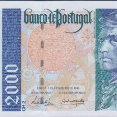 Billetes extranjeros: BILLETES - PORTUGAL 2000 ESCUDOS 1996 - SERIE A - PICK-189B (SC). Lote 67226149