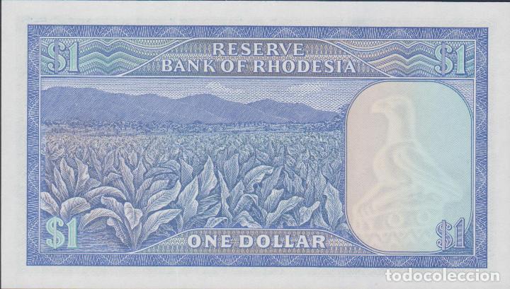 Billetes extranjeros: BILLETES - RHODESIA - 1 DOLLAR 1979 - SERIE L/130-816148 - PICK-30C (SC) - Foto 2 - 176474782