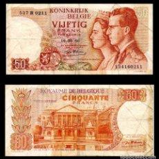 Billetes extranjeros: BELGICA 50 FRANCOS 1966 PIK 139 BC+. Lote 67513373
