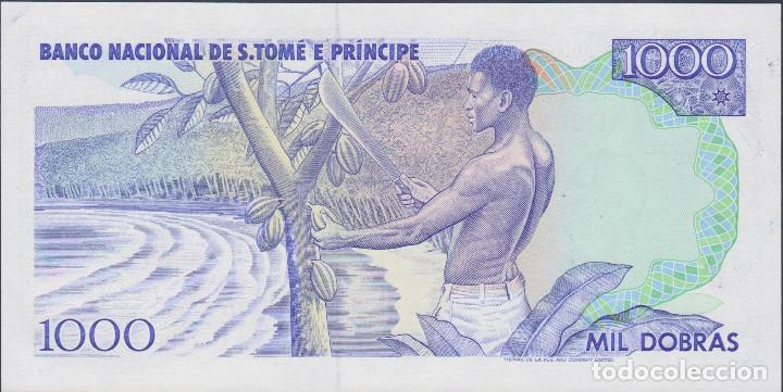 Billetes extranjeros: BILLETES - SANTO TOMÉ Y PRINCIPE - 1000 DOBRAS 1989 - SERIE AD 9623670 - PICK-62 (SC) - Foto 2 - 190900756