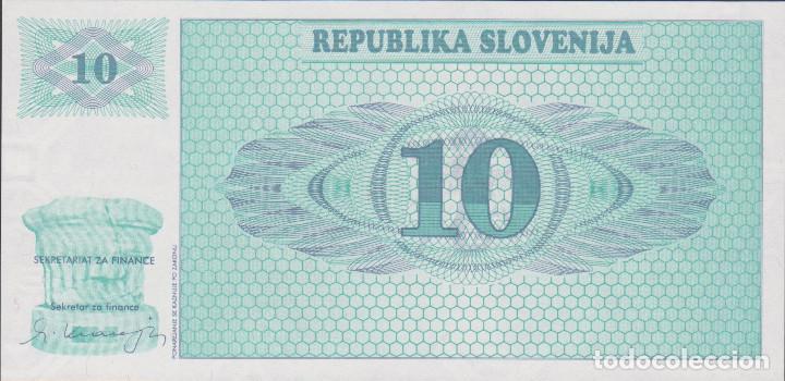 Billetes extranjeros: BILLETES - ESLOVENIA - 10 TOLARJEV 1990 - SERIE AK 90638140 - PICK-4S1 VZOREC-SPECIMEN (SC) - Foto 2 - 173019732