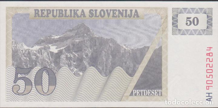 Billetes extranjeros: BILLETES - ESLOVENIA - 50 TOLARJEV 1990 - SERIE AH 90502274 - PICK-5 (SC) - Foto 1 - 188778728