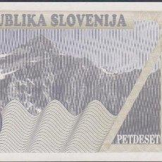 Billetes extranjeros: BILLETES - ESLOVENIA - 50 TOLARJEV 1990 - SERIE AH 90502274 - PICK-5 (SC). Lote 188778728