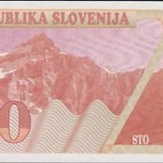 Billetes extranjeros: BILLETES - ESLOVENIA - 100 TOLARJEV 1990 - SERIE AA 90035274 - PICK-6 (SC). Lote 179555543
