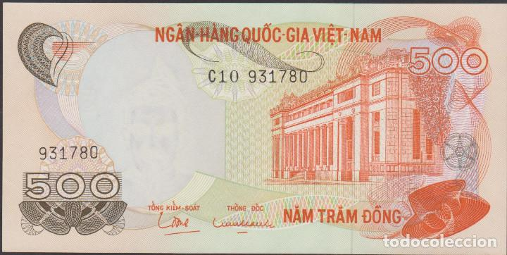 BILLETES - SOUTH VIET NAM - 500 DONG (1970) SERIE C10-931781 - PICK-28 (SC) (Numismática - Notafilia - Billetes Extranjeros)