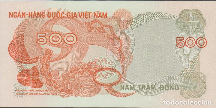 Billetes extranjeros: BILLETES - SOUTH VIET NAM - 500 DONG (1970) SERIE C10-931781 - PICK-28 (SC) - Foto 2 - 174041692