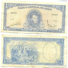 Billetes extranjeros: CHILE 1/2 ESCUDO 1962, FIRMA III PICK 134.A.A. Lote 43489546