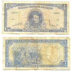 Billetes extranjeros: CHILE 1/2 ESCUDO 1962, FIRMA III PICK 134.A.A. Lote 43489555