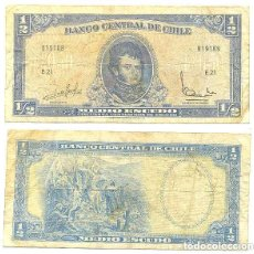 Billetes extranjeros: CHILE 1/2 ESCUDO 1962, FIRMA III PICK 134.A.A. Lote 43489564