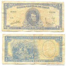 Billetes extranjeros: CHILE 1/2 ESCUDO 1962, FIRMA III PICK 134.A.A. Lote 43489572